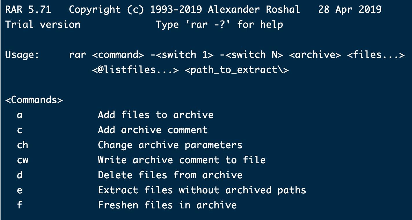 《Linux安装和使用rar解压缩软件》
